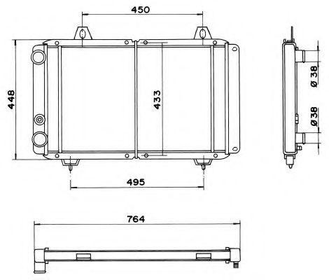 Радиатор охлаждения NRF 52035