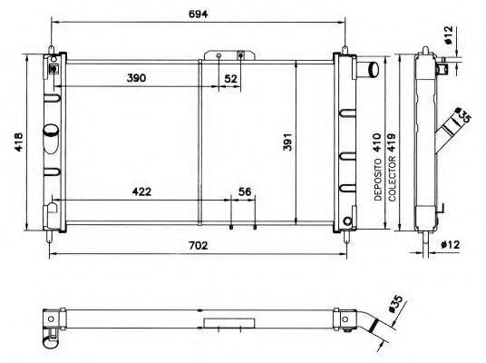 Радиатор охлаждения NRF 52055
