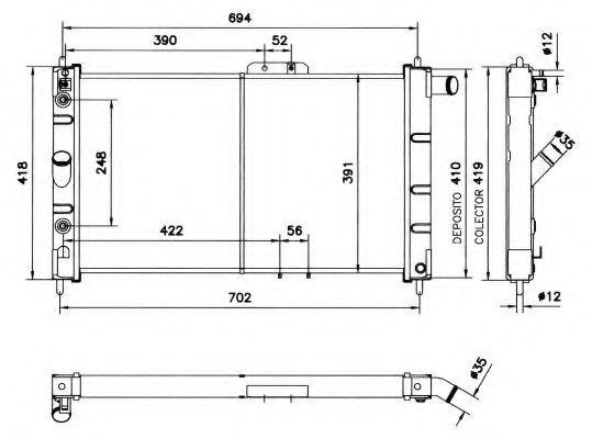 Радиатор охлаждения NRF 52056