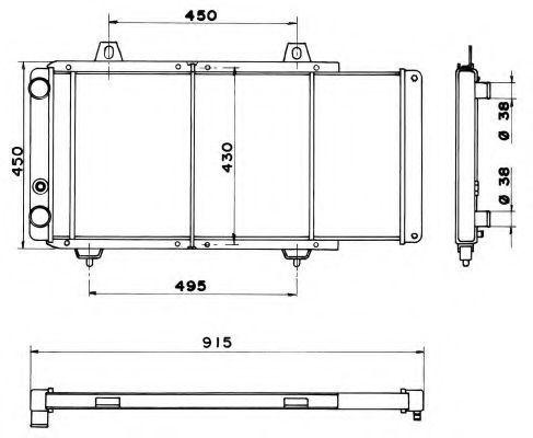 Радиатор охлаждения NRF 52152