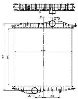 Радиатор охлаждения NRF 529710