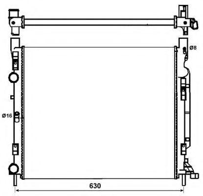 Купить Радиатор охлаждения NRF 53002