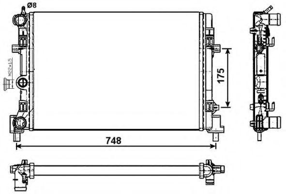 Радиатор охлаждения основной NRF 53024