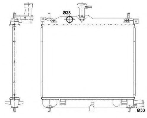 Радиатор охлаждения NRF 53025