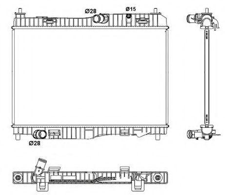 Радиатор охлаждения NRF 53044