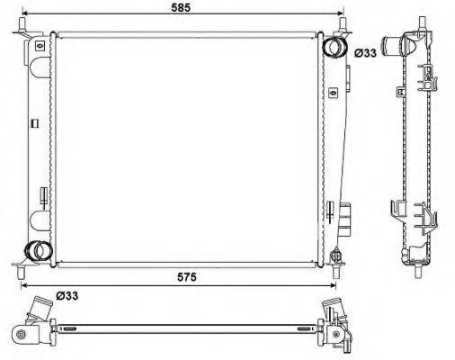 Радиатор охлаждения NRF 53057