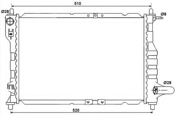 Радиатор охлаждения NRF 53068