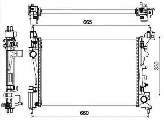 Радиатор охлаждения NRF 53115