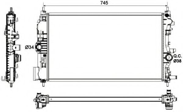 Радиатор охлаждения NRF 53129