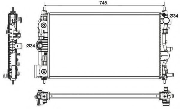 Радиатор охлаждения NRF 53131
