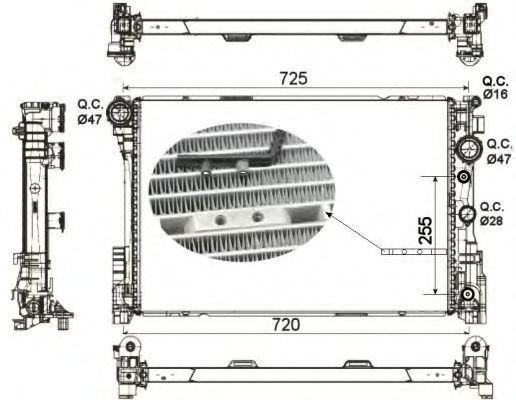 Радиатор охлаждения NRF 53141