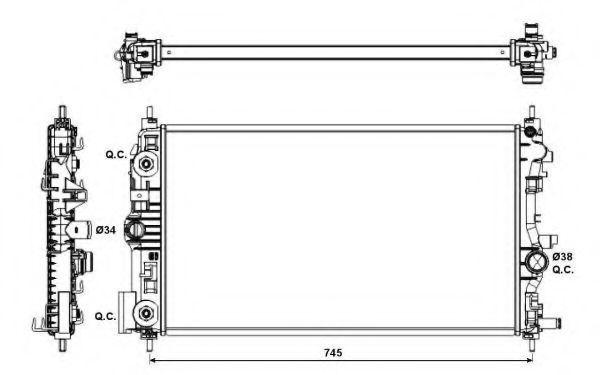 Радиатор охлаждения NRF 53143