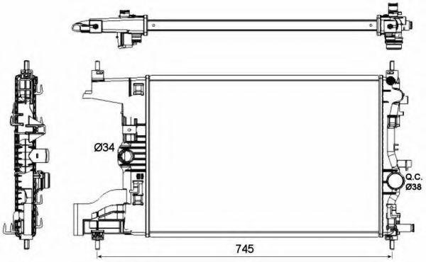 Радиатор охлаждения NRF 53148