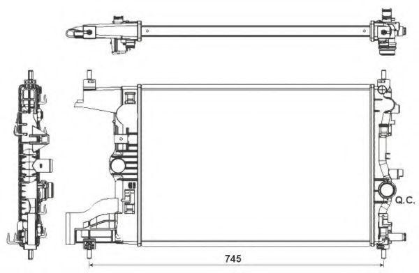 Радиатор охлаждения NRF 53155