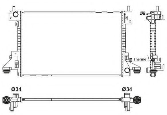 Радиатор, охлаждение двигателя NRF 53160