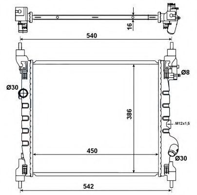 Радиатор охлаждения NRF 53195