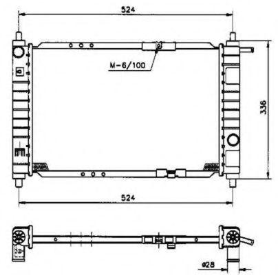 Радиатор охлаждения NRF 53250
