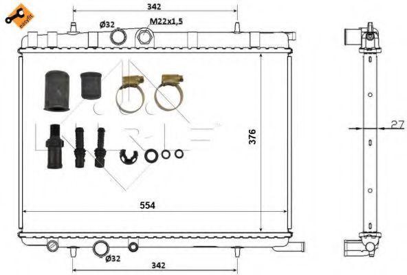 Радиатор охлаждения NRF 53424