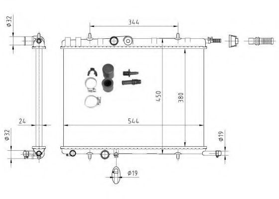 Радиатор охлаждения NRF 53424A