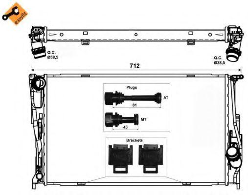 Радиатор охлаждения NRF 53472