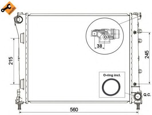 Радиатор охлаждения NRF 53525