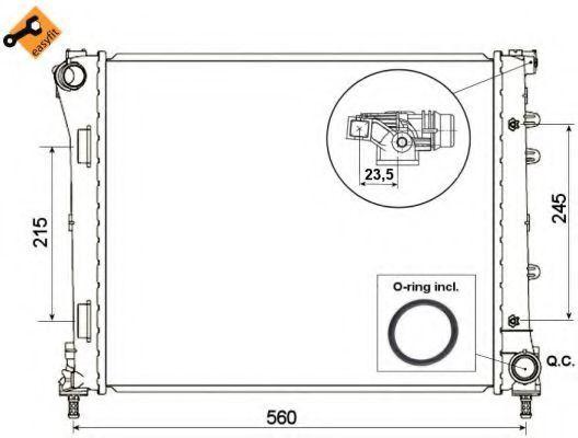 Радиатор охлаждения NRF 53527