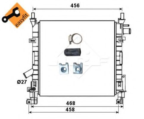 Радиатор охлаждения NRF 53651