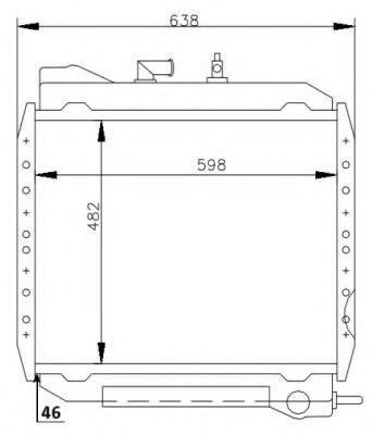 Радиатор, охлаждение двигателя NRF 53714