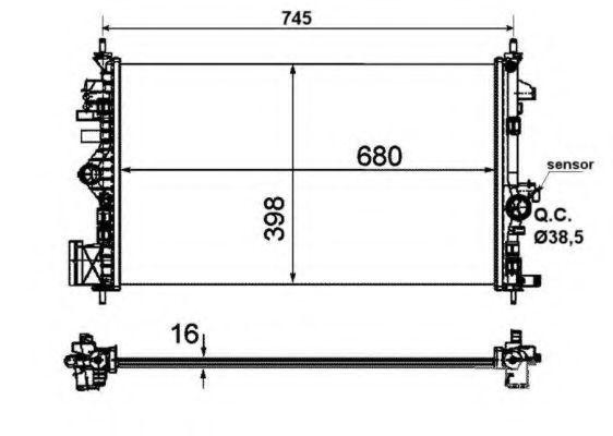 Радиатор охлаждения NRF 53773