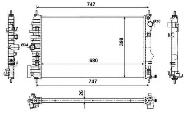 Радиатор охлаждения NRF 53774