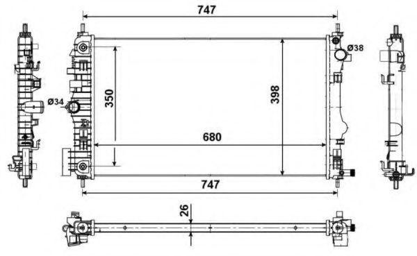 Радиатор охлаждения NRF 53775