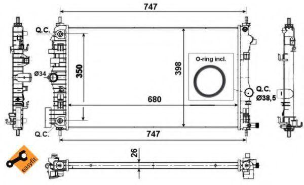 Радиатор охлаждения NRF 53777