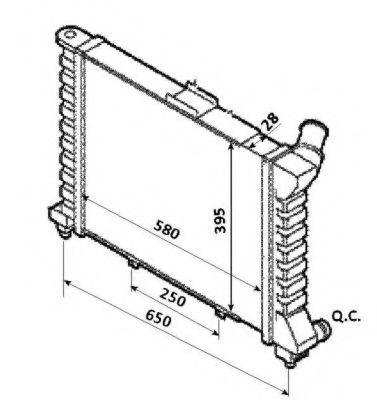 Радиатор охлаждения NRF 53827
