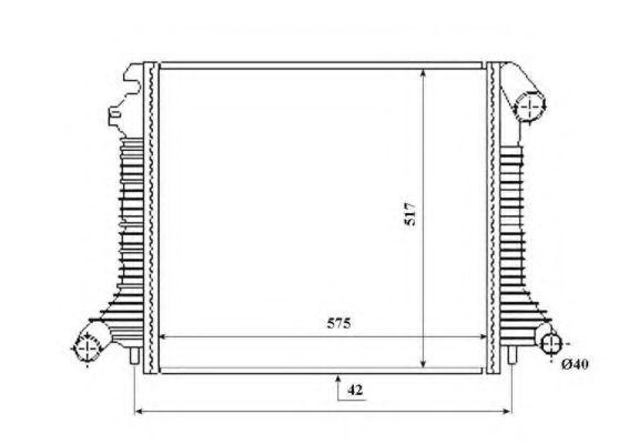 Радиатор охлаждения NRF 53855