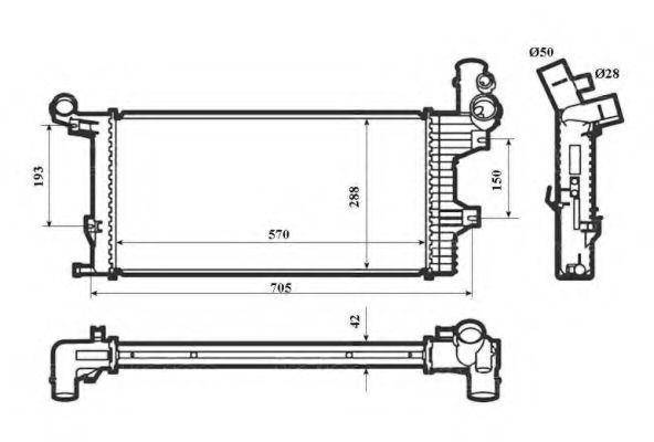 Радиатор охлаждения NRF 53856