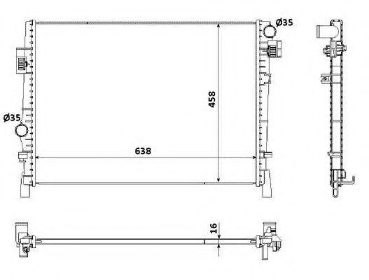Радиатор, охлаждение двигателя NRF 53901