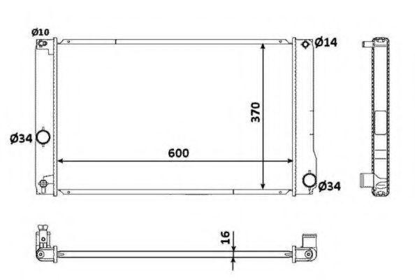 Радиатор охлаждения NRF 53926