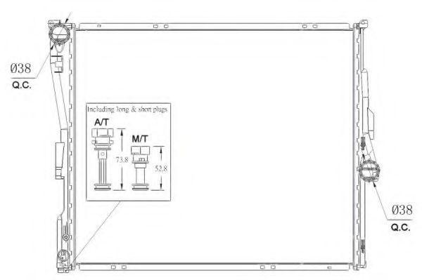 Радиатор охлаждения NRF 53956