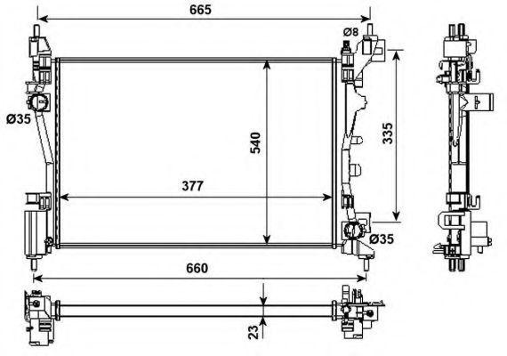 Радиатор охлаждения NRF 53981
