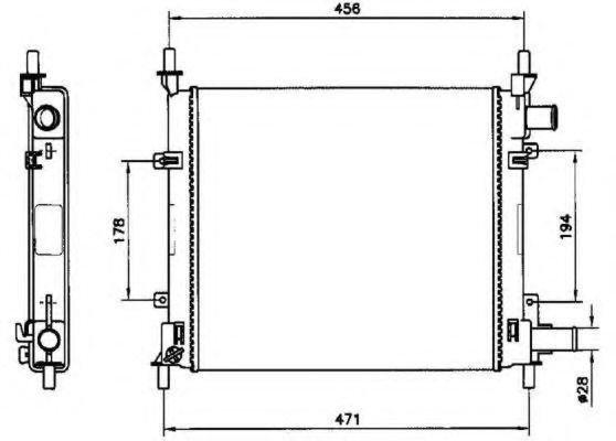 Радиатор охлаждения двигателя NRF 54601