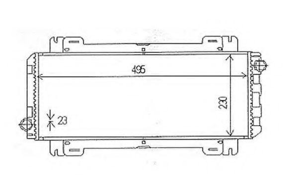 Радиатор охлаждения NRF 54613
