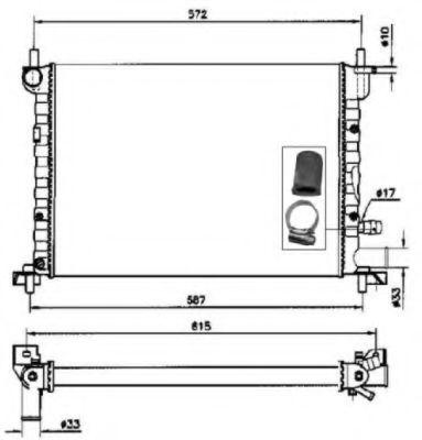 Радиатор охлаждения NRF 54667