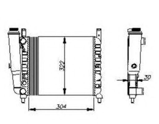 Радиатор охлаждения NRF 54679