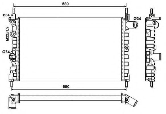 Радиатор охлаждения NRF 54682