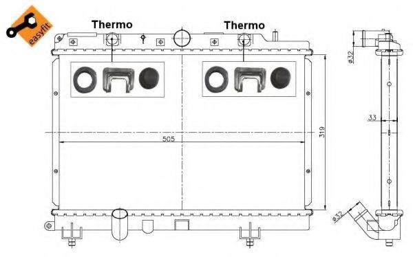 Радиатор охлаждения NRF 55307