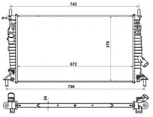 Радиатор NRF 55327