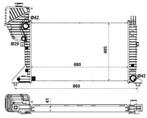 Радиатор охлаждения NRF 55348A