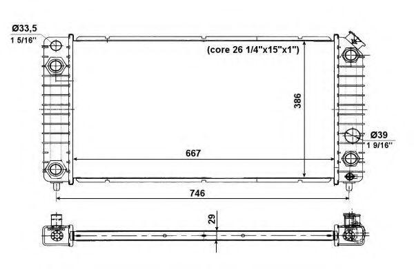 Радиатор охлаждения NRF 56011