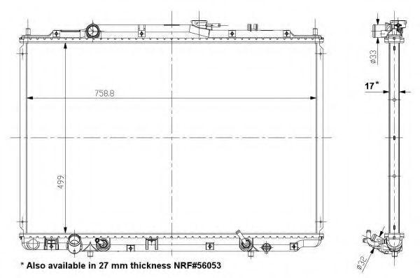 Радиатор охлаждения NRF 56055