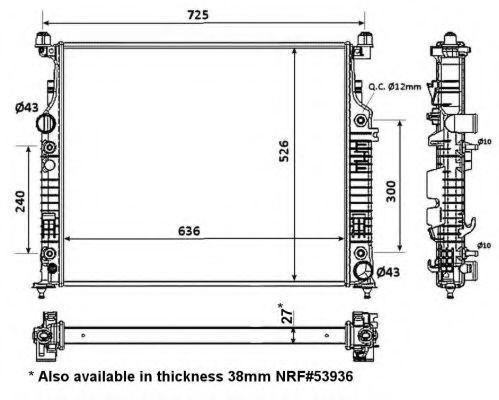 Радиатор охлаждения NRF 56074